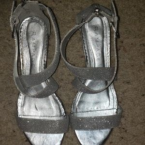 Rampage Silver sparkle shoes